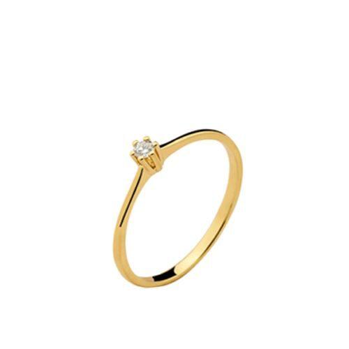be3aaf1d7ac Anel Solitário Diamante 5 Pontos