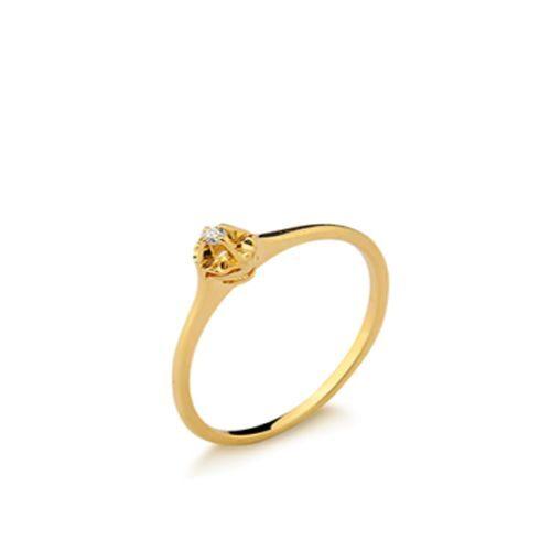 288a776fd6d Anel Solitário Diamante 2 Pontos