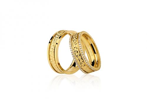 Alianças de Noivado e Casamento de Ouro 18k   Valdugas Joalheria b7a1fae180