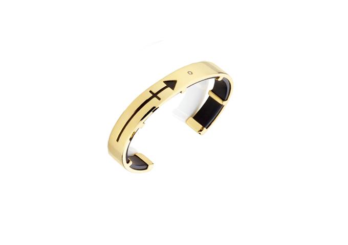 c50f4e8570afe Bracelete em Ouro Amarelo Seta com Diamante - Valdugas Joalheria